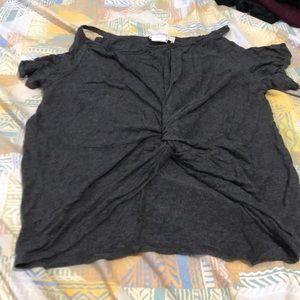 Grey Off the Shoulder Blouse